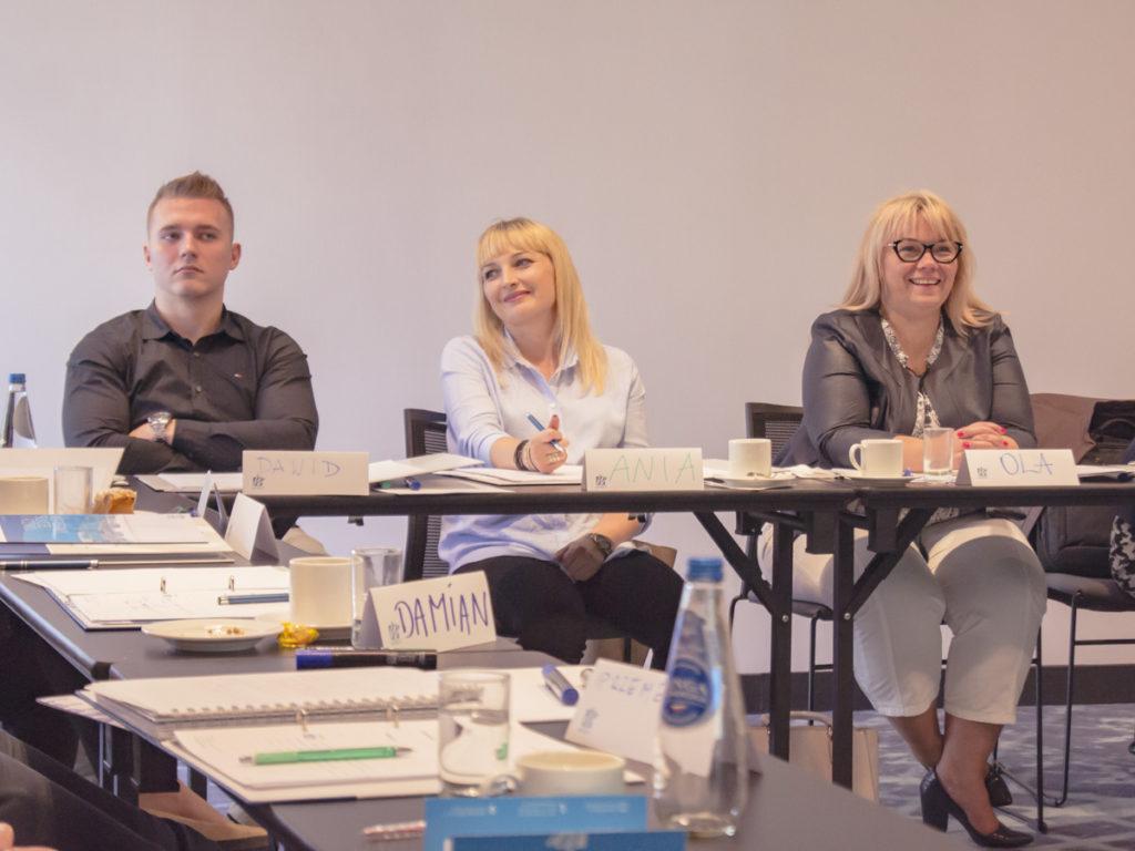 Grupa uczestników szkolenia Kompetencje menedżerskie