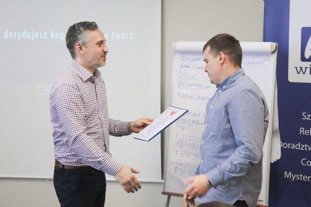 Dwa dni szkoleniowe potwierdzone certyfikatem ukończenia kursu