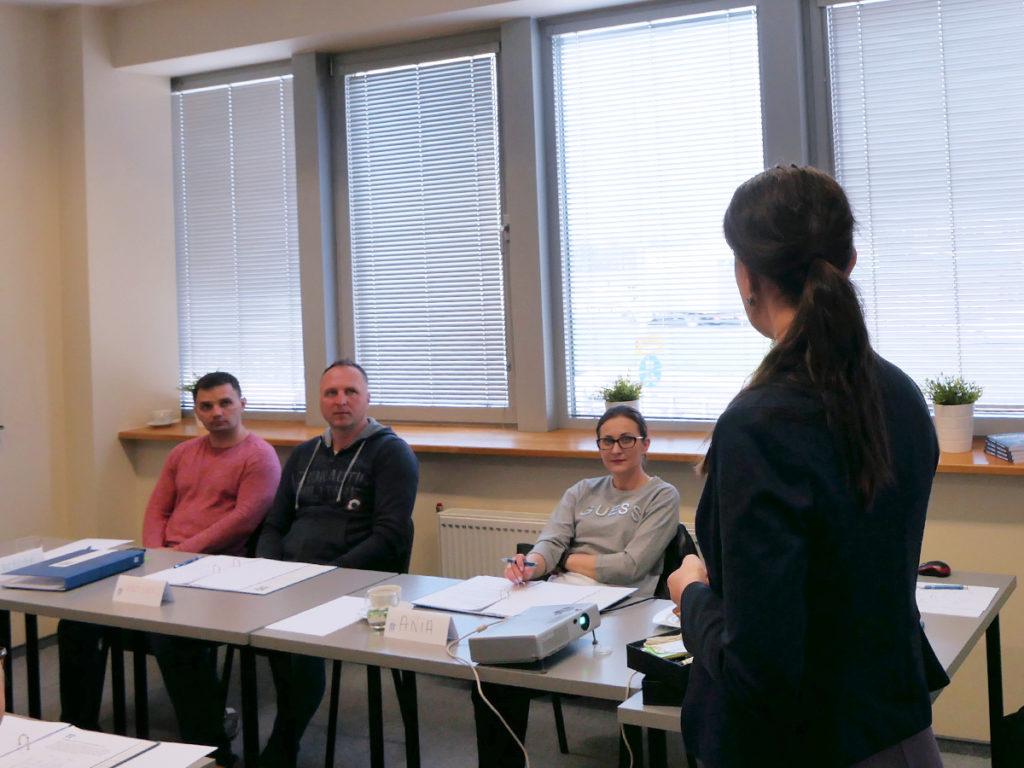 Uczestnicy szkolenia z zarządzania stresem